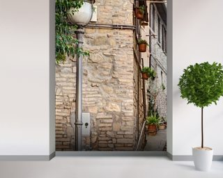 Ancient Alley in Bevagna, Italy Wall Mural Wallpaper Wall Murals