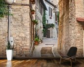 Ancient Alley in Bevagna, Italy mural wallpaper kitchen preview