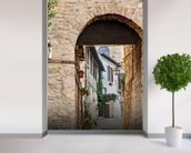 Ancient Alley in Bevagna, Italy mural wallpaper in-room view