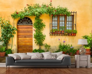 Beautiful Village House, Italy mural wallpaper