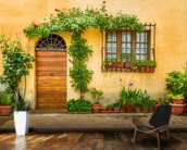 Beautiful Village House, Italy mural wallpaper kitchen preview