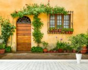 Beautiful Village House, Italy mural wallpaper in-room view