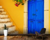 Colourful Doorway, Symi, Greece mural wallpaper kitchen preview