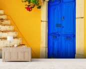 Colourful Doorway, Symi, Greece mural wallpaper living room preview