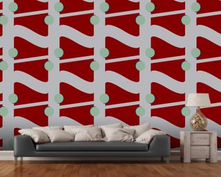 Fibre Red Wallpaper Wall Murals