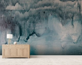 Watercolor Blue Black Wallpaper Wall Murals