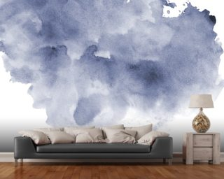 Blue and Black Watercolor Wallpaper Wall Murals