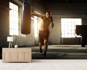 Boxing wallpaper mural living room preview