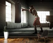 Boxing Workout mural wallpaper kitchen preview