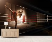 Kick Boxing wall mural living room preview
