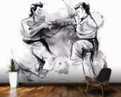 Karate Illustration wall mural kitchen preview