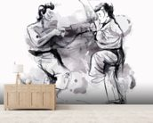 Karate Illustration wall mural living room preview