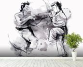 Karate Illustration wall mural in-room view