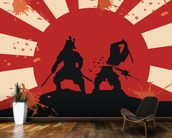 Samurai wall mural kitchen preview