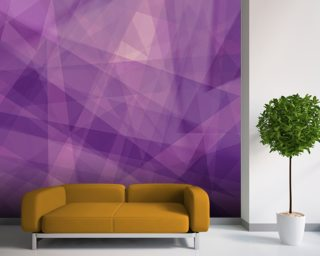 Abstract Purple Geometry Wallpaper Wall Murals