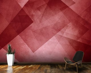 Red Triangles Wallpaper Wall Murals
