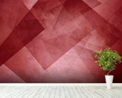 Red Triangles wallpaper mural in-room view