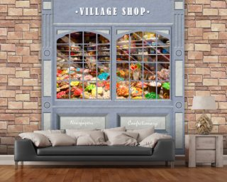 Village Shop wall mural