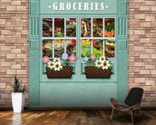 Groceries mural wallpaper kitchen preview