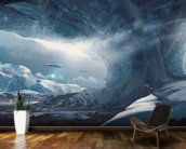 Big Game Ice Planet mural wallpaper kitchen preview