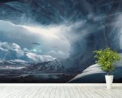 Big Game Ice Planet mural wallpaper in-room view