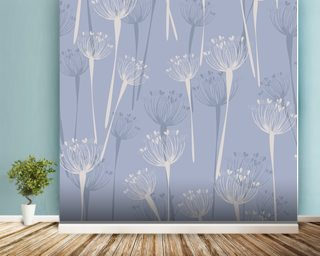 Cow Parsley Sky Wallpaper Wall Murals
