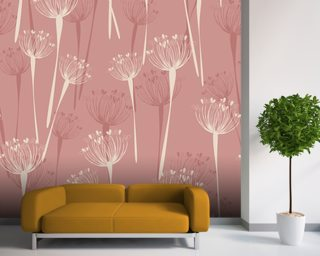 Cow Parsley Strawberry Wallpaper Wall Murals