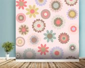 Floral Frenzy mural wallpaper in-room view