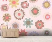 Floral Frenzy mural wallpaper living room preview