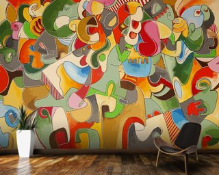 Mike Labiola abstract wall murals