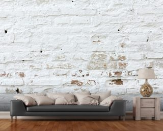 Brick wallpaper brick effect wall murals wallsauce usa for Distressed brick wall mural