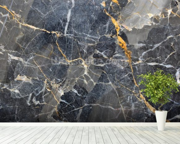 black and gold marble wallpaper  Grey with Gold Marble Wallpaper Wall Mural | Wallsauce Australia