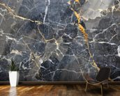 Grey with Gold Marble mural wallpaper kitchen preview