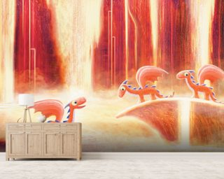 Dragons Bath Wall Mural Wallpaper Wall Murals