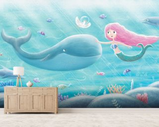 Mermaid Friends Wallpaper Wall Murals