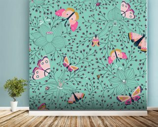 Butterflys and Bugs Wall Mural Wallpaper Wall Murals