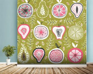 Fruit and Floral Wallpaper Wall Murals
