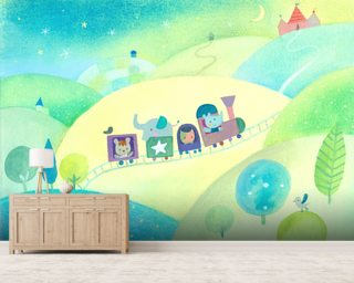 Baby Train Wallpaper Wallpaper Wall Murals