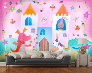 Fairy Castle Wallpaper Wallpaper Wall Murals