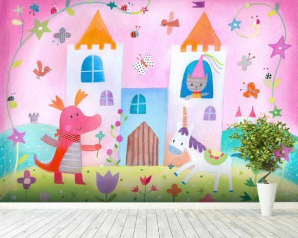 Fairy Castle Wallpaper Mural Room Setting