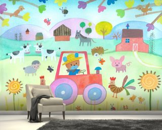 The Farm Mural Wallpaper Wallpaper Wall Murals