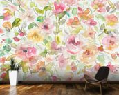 Garden Whispers mural wallpaper kitchen preview