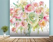 Graceful Bouquet wall mural in-room view