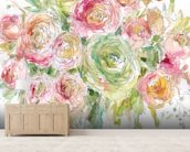 Graceful Bouquet wall mural living room preview
