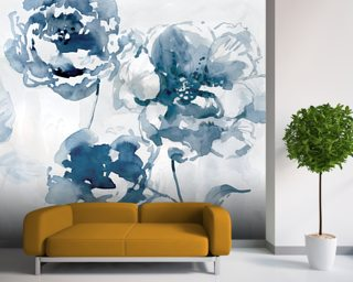 Indigo Garden 1 Wallpaper Wall Murals
