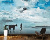 Together On the Beach mural wallpaper kitchen preview