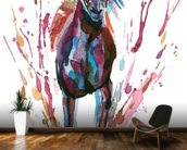 Racehorse and Rider mural wallpaper kitchen preview
