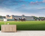 Horserace in Chantilly wallpaper mural living room preview