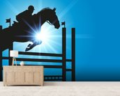 Show Jumper mural wallpaper living room preview