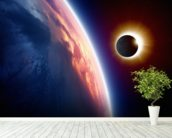 Sun Eclipse wall mural in-room view